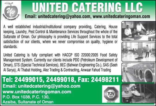 UNITED CATERING LLC - Infopages Oman